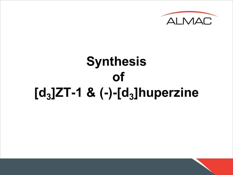 Synthesis of [d3]ZT-1 & (-)-[d3]huperzine